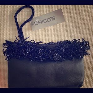 Black Chico's Wristlet with Sequin